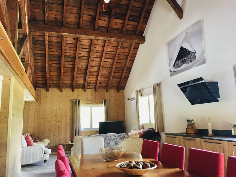 4* Alpine apartment all seasons well furnished and convenient for all amenities, location de vacances à Sixt-Fer-a-Cheval