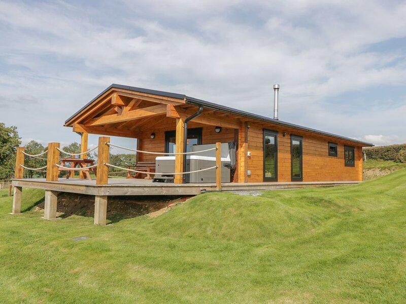 Bryn Eiddon Log Cabin, MACHYNLLETH, location de vacances à Machynlleth