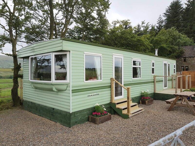 Static caravan sleeps 6, location de vacances à Gilsland