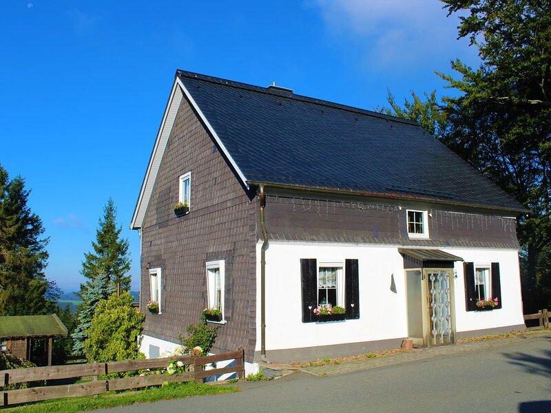 Vrij staand huis,  groot zonnig terras met zicht op de ski piste, holiday rental in Langewiese