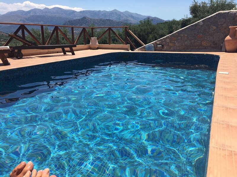 Stunning Converted Olive Press with Private Pool, Spectacular Location, holiday rental in Epano Sisi