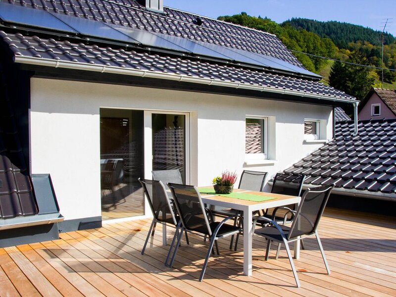 Ferienwohnung mit großer Dachterrasse im Schwarzwald, Ferienwohnung in Bürchau
