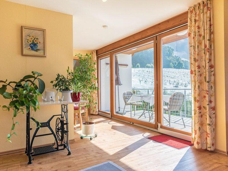 Gemütliche Ferienwohnung im Haus Irene mit Balkon, Bergblick und WLAN; Parkgarag, casa vacanza a Markdorf