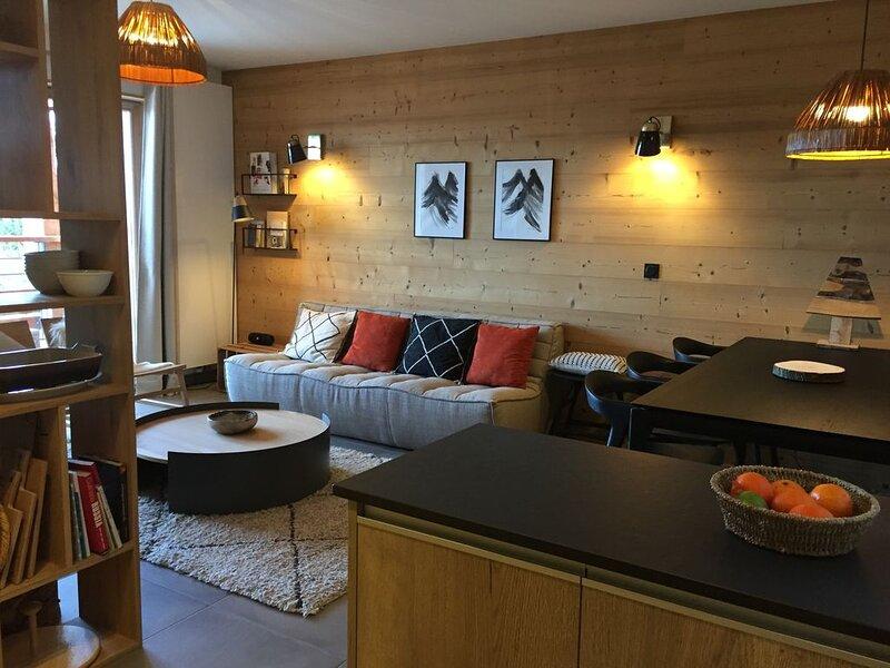 'Les Arcs 1800' Appartement haut standing 6/8 Pers pieds des pistes Sauna Hammam, casa vacanza a Les Arcs