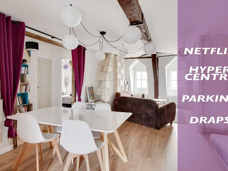 Le Grand Mirebeau, 2 chambres, 68 mètres carrés, vacation rental in Berry