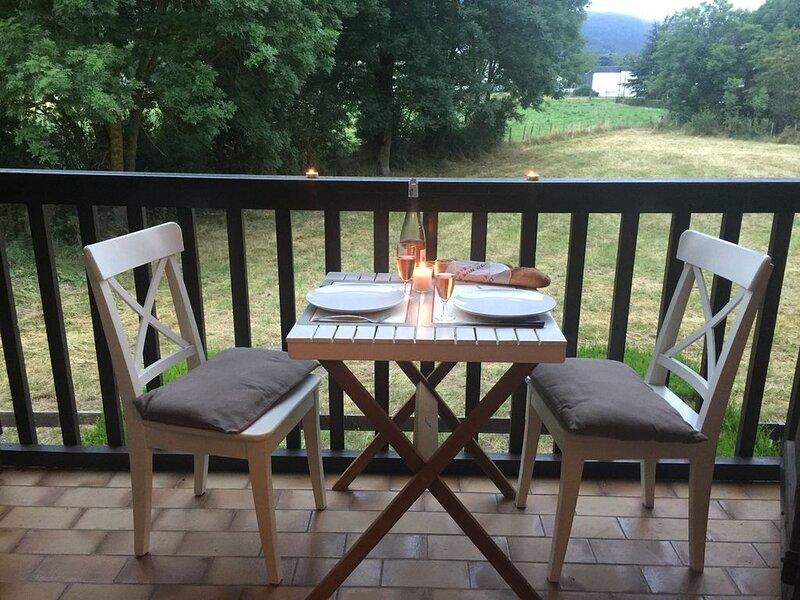 APPARTEMENT 4 PERSONNES VUE SUR PRE ET MONTAGNE, location de vacances à Guchan