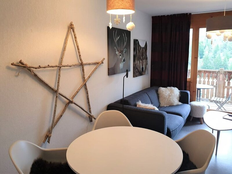 3* Douillet T2, 31 m², terrasse plein sud, Vue pistes, 4 couchages, alquiler de vacaciones en Le Devoluy