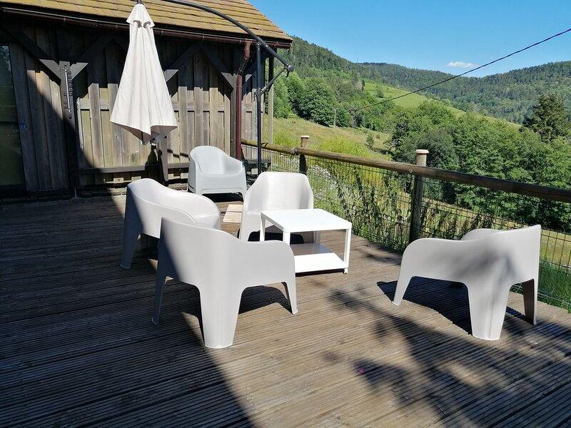 Ferme avec grande terrasse et vue imprenable, vacation rental in Le Thillot
