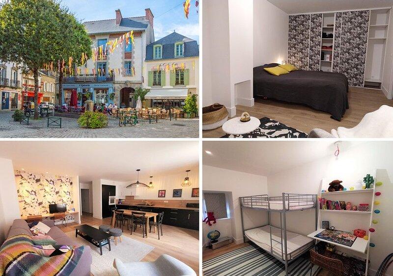 Bel appartement confortable, neuf, centre d' Auray - 10km plages, alquiler de vacaciones en Auray