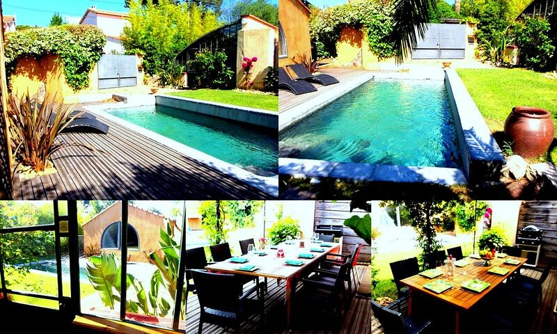 Villa atypique  piscine privée, 4 chambres, 3 sdb, à 100m MER + VELOS ET KAYAK, holiday rental in Saint-Raphael
