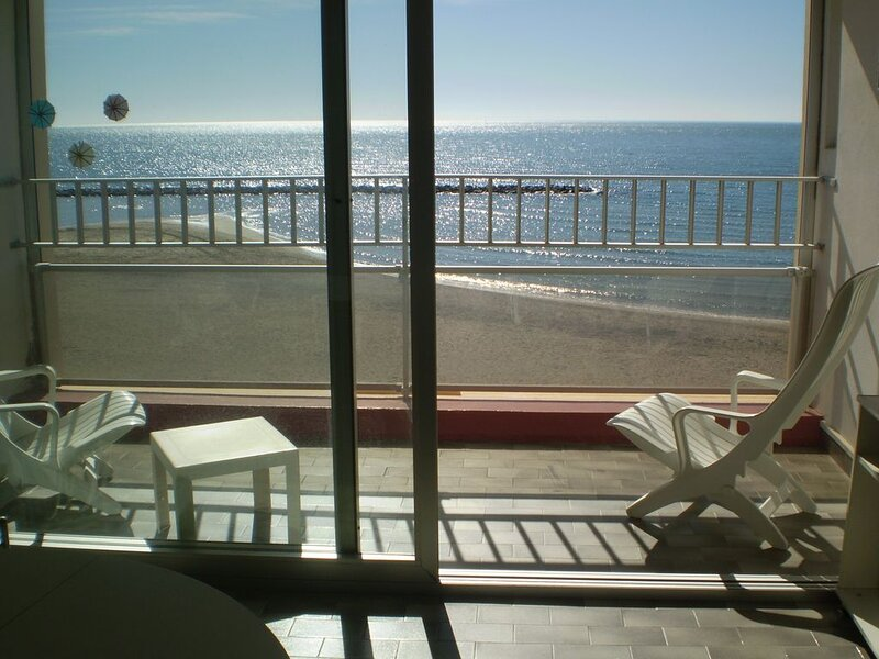 T2 1ère ligne vue mer imprenable au GRAU D'AGDE, holiday rental in La Tamarissiere