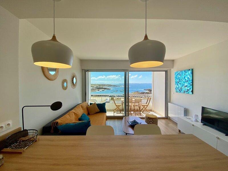 Le Courégant,  vue panoramique mer, calme Wifi, holiday rental in Ploemeur