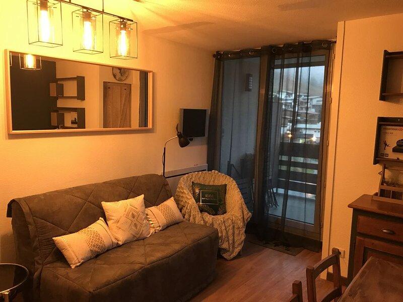 Bel appartement 4-6 pers avec vue à 2min des pistes, holiday rental in Mizoen