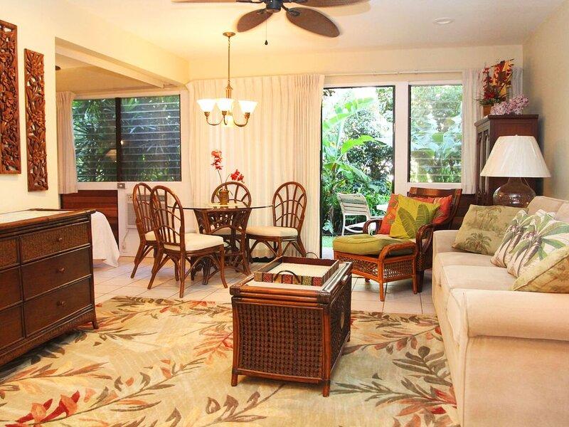 HK-A15 - Garden View Maui Condo in a Quiet Beachfront Resort - Ma'alaea Bay, aluguéis de temporada em Kahului