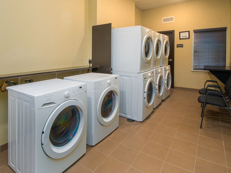 On-site laundry is available.