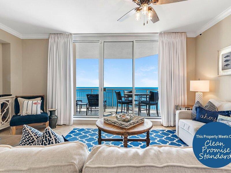 Stunning Indigo Unit, Professionally Decorated! Gulf Front + Beach Service!*, holiday rental in Perdido Key