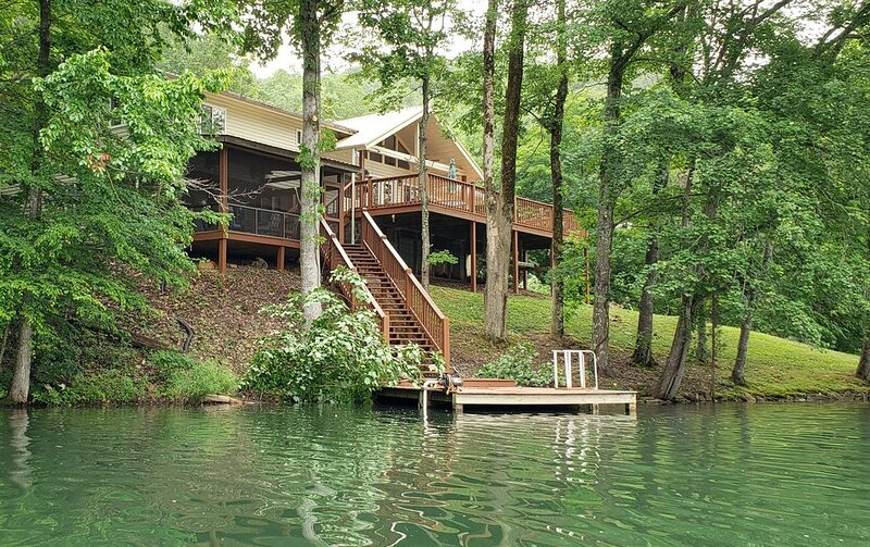 Waterfront Lake House on private lake - PETS WELCOME, holiday rental in Tellico Plains