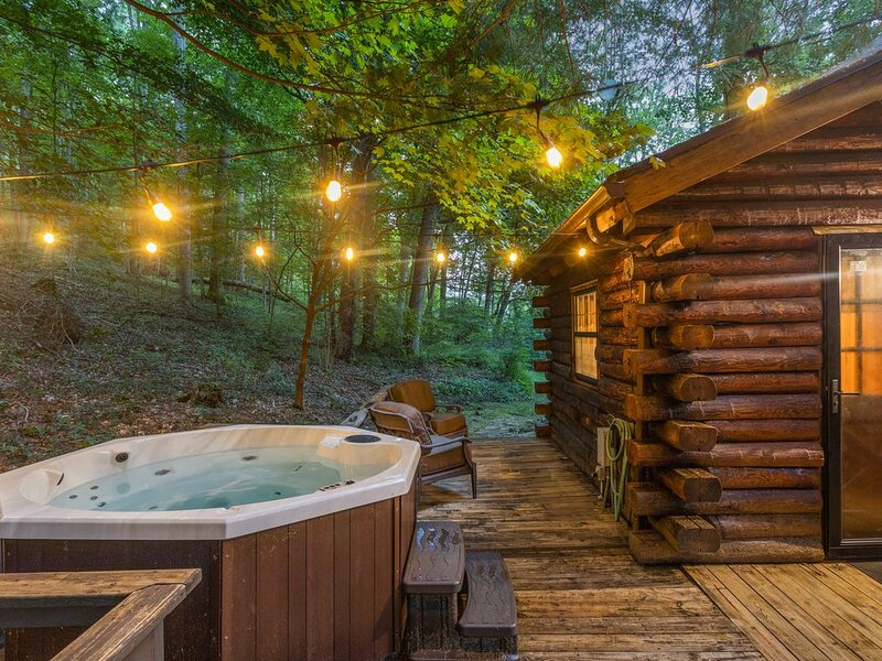 Cozy Pines Cabin **Newly updated, Secluded, Hot Tub, Tree House**, holiday rental in Columbus