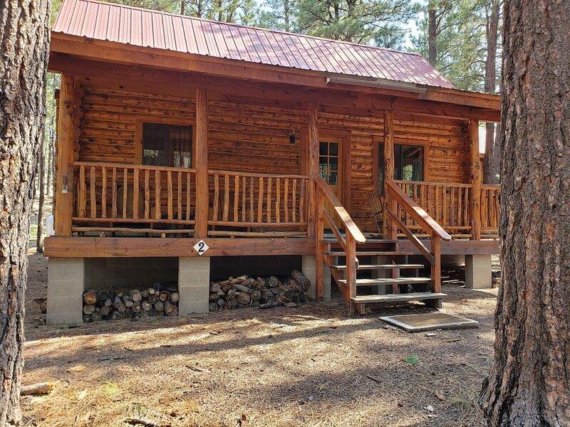 Circle Pine Ranch-'The Real Log Cabin Experience', alquiler vacacional en Alpine