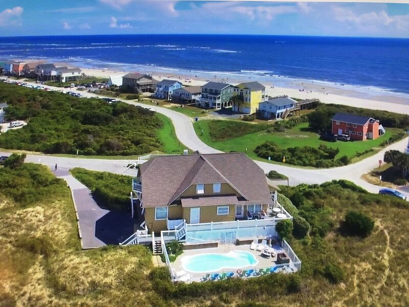 Panoramic Views Steps from Beach with Private Heated* Swimming Pool, holiday rental in Holden Beach