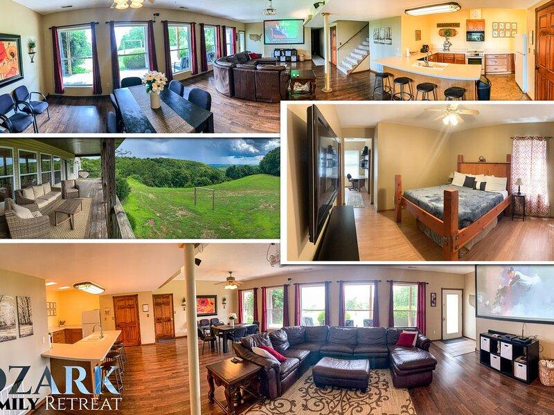 Ozark Family Retreat Overlooks Branson Missouri, location de vacances à Reeds Spring