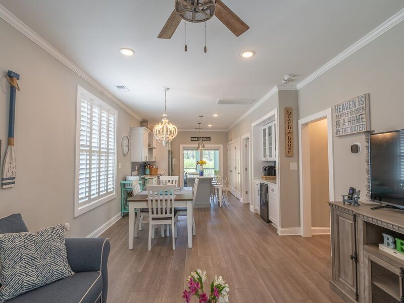 Open concept design of the living area keeps the group dynamic at a constant high.