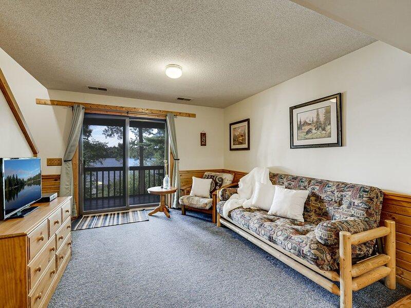 Lakeside 'Fishin' Bear Condo': Beach, Sauna, Game Room, Right on ATV/UTV Trails, holiday rental in Danbury