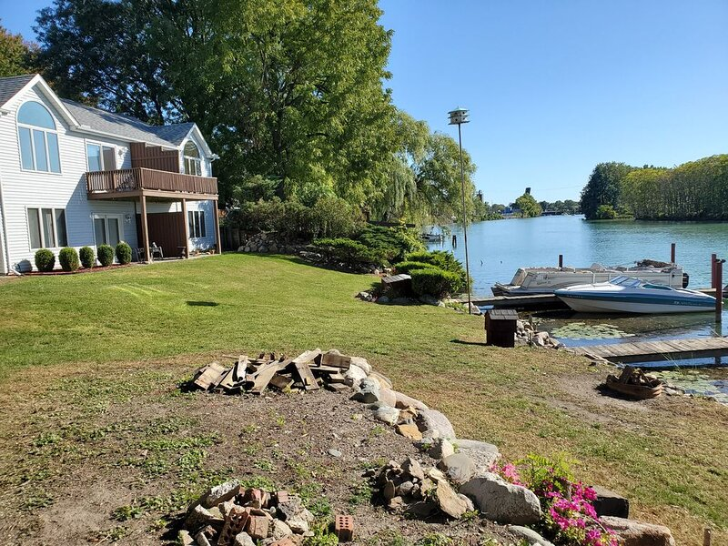 River Front,  Two story duplex with boat dock, holiday rental in Sombra