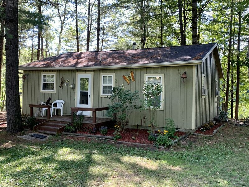 Cute cabin on the river! steps away for hunting! Book Week/Month for discount!!!, holiday rental in Gladwin