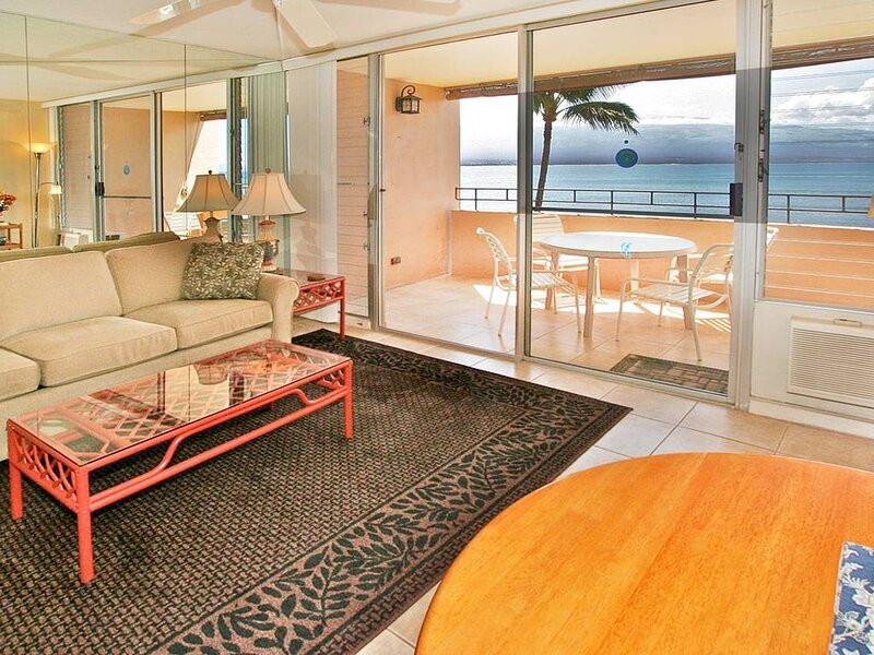 Living Room with Lanai view