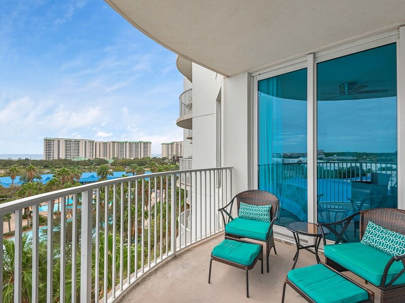 Enjoy the balcony views and relax