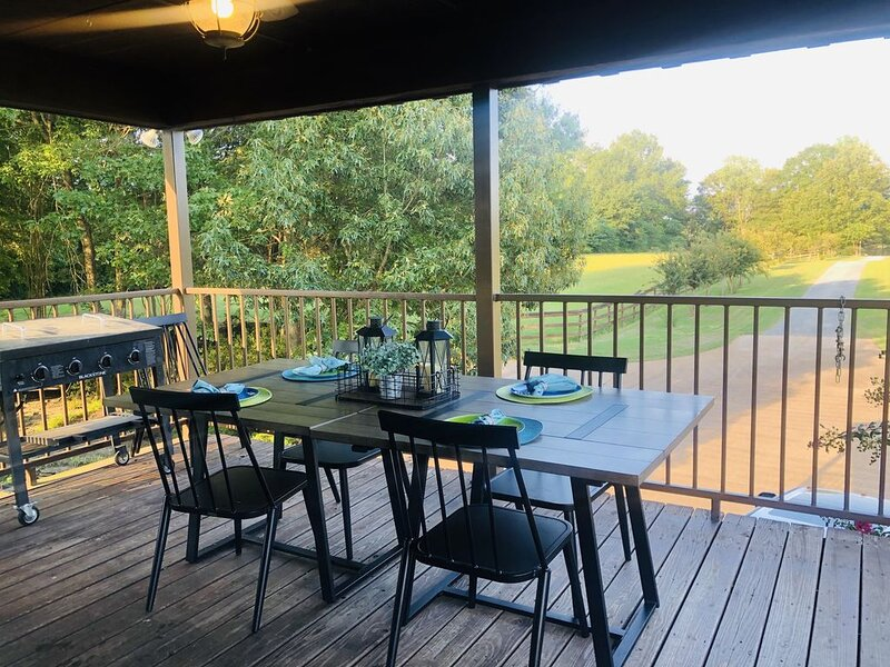 Serene Farmhouse with Lagoon Pool and Private Lake, holiday rental in Senatobia