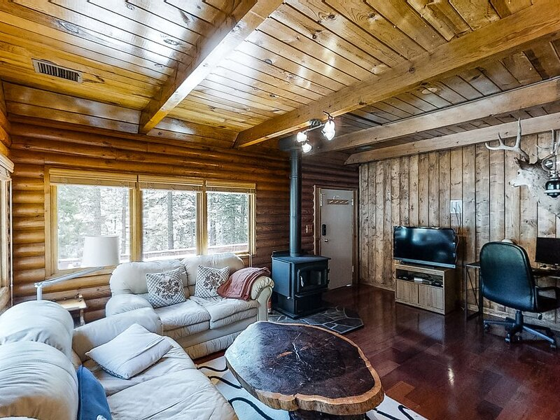 Rustic cabin-style home with wood stove, private gas grill, and picnic table!, alquiler vacacional en Tahoe Vista