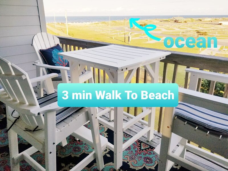 OCEAN VIEW!'SERENITY NOW'2 Night Min! Great Reviews! No Crowds! Rate Specials!, location de vacances à Rodanthe