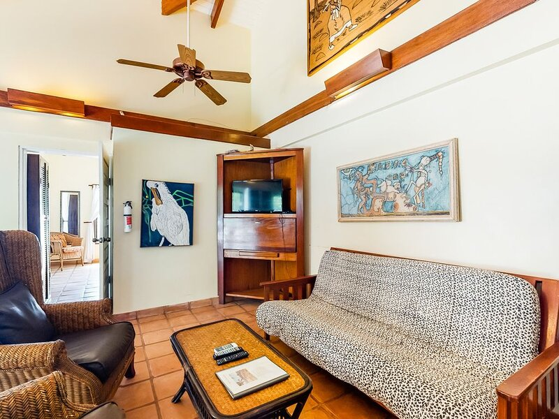 Oceanfront condo w/ ocean view, shared pool, AC & free WiFi - walk to the beach!, vacation rental in Seine Bight Village