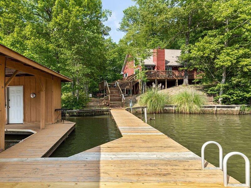 Dock with swim platform and ladder