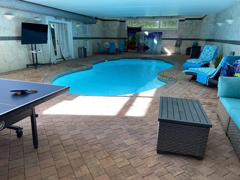 Long Island NY Luxury Getaway spa amenities Wineries INDOORPOOL   Gym hamptons, holiday rental in Cutchogue