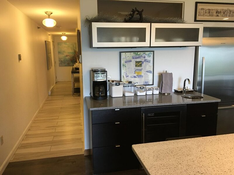 Modern Remodeled, Bedroom Looks Out To Living Room, Palace Playland, Ocean Vie, holiday rental in Old Orchard Beach