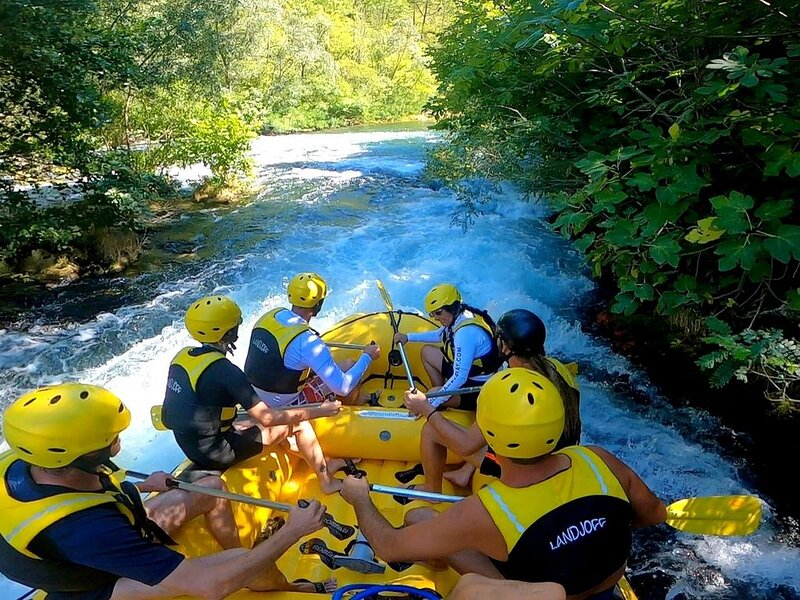 White water rafting and zip-line experience on the Cetina river is a real adventure.