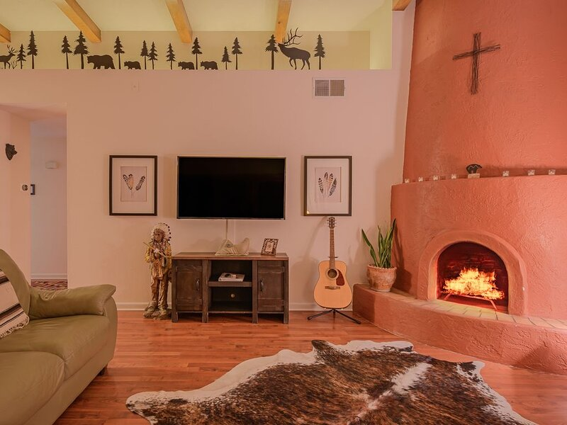 Kiva fireplace is always an inviting spot
