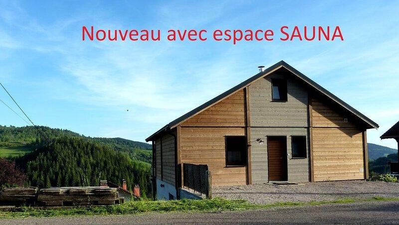 Chalet le Belvédère 12 personnes avec terrasse à Le Tholy à 10 mn de Gerardme, holiday rental in Champdray