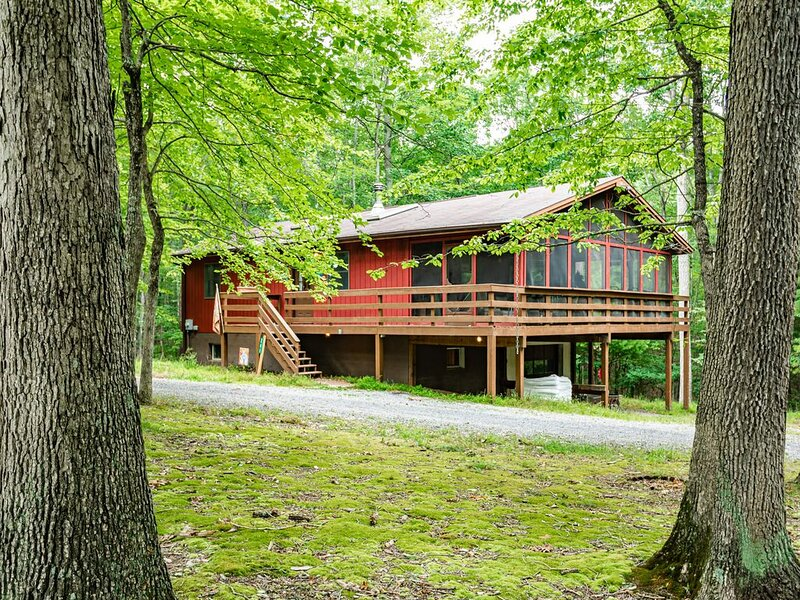 Our large, family-friendly cabin is packed with amenities and fun for groups large and small.