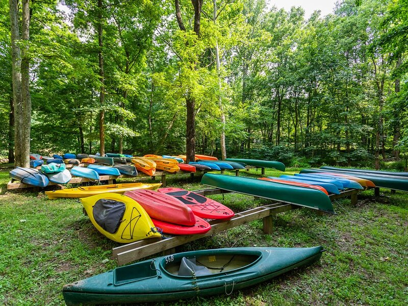 Kayak or paddleboard (we have both!) that we store at the river with private dock access from spring to fall.