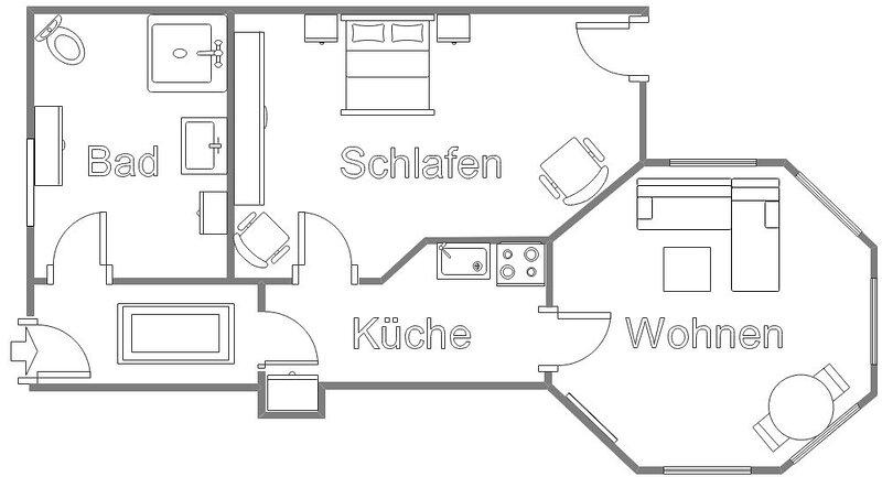Ferienwohnung Brilon für 1 - 2 Personen mit 1 Schlafzimmer - Ferienwohnung, holiday rental in Bad Wünnenberg