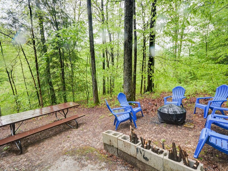 Picnic area is perfect for camp-fire lunch with the family