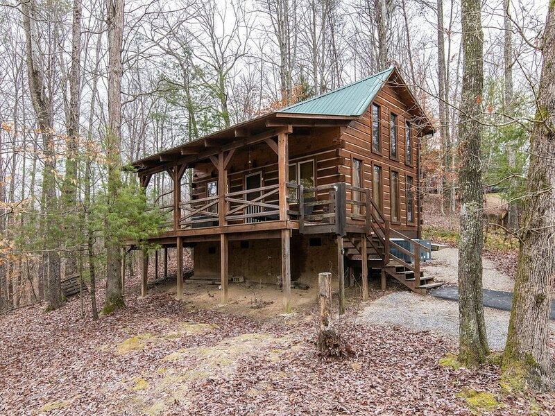 Hot Tub & Satellite - Small Family Cabin - Hillside Loft - Getaway to Red River, holiday rental in Rogers