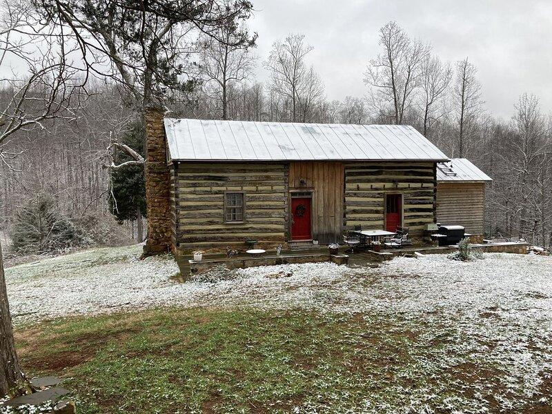 Historical Dogtrot Chestnut  Log House, alquiler de vacaciones en Madison Heights