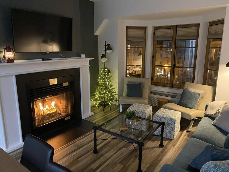 Luxury 900 sft 2 BR Condo⛷in/out, 100m to �, VIP express line ticket option, aluguéis de temporada em Mont Tremblant