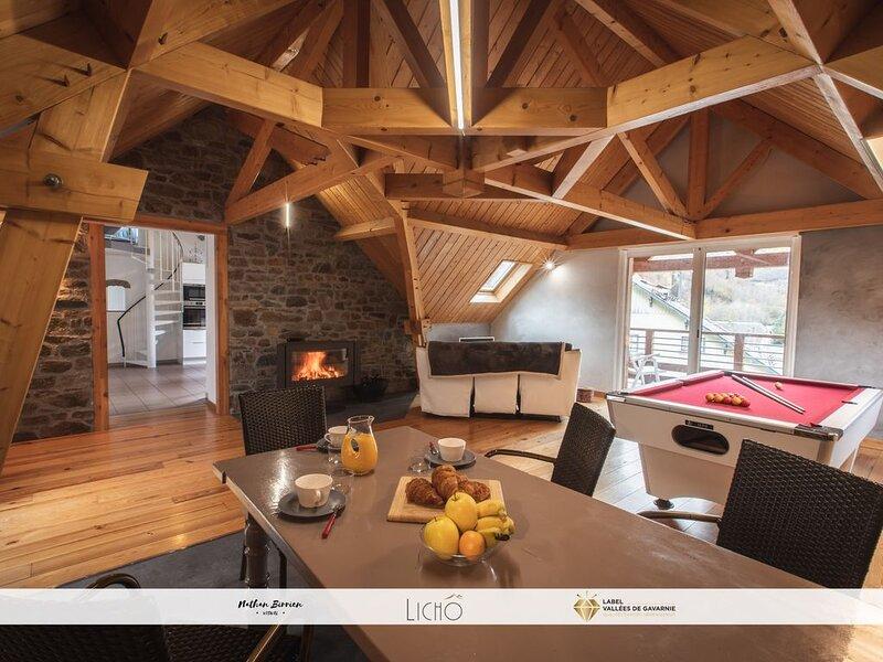 Appart 4-5 pers Jardin Terrasse Balcon Billard, vacation rental in Gedre