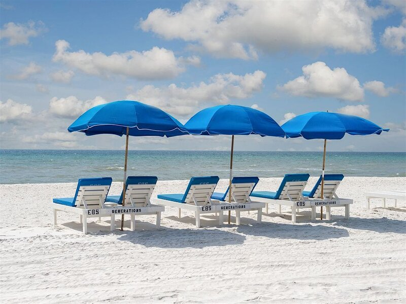 Generations Beach House - BEACHFRONT -  6 Reserved Chaise Lounges & Umbrellas, holiday rental in Panama City Beach